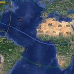 Carte générale de l'éclipse hybride du 3 novembre 2013