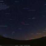 Position de la comète Lovejoy pour le 6 décembre 2013 à 6h00 TU (7h00 heure légale en Europe continentale)