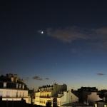 Vénus et la Lune le 6 décembre 2013 vues depuis Vincennes à 17h45