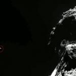 Dans le cercle rouge, l'inattendu rocher venu photobomber les images d'Osiris