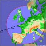 Trace au sol du passage de la Station spatiale internationale le samedi 10 octobre entre 20h23 et 20h28. Les observateurs au Nord du pays seront aux premières loges.