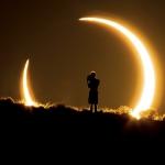 Eclipse annulaire photographiée en 2012 au Nouveau-Mexique
