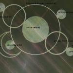 Vue aérienne annotée du crop-circle.