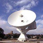 Une antenne destinée à recevoir les données des sondes CLUSTER. Cette antenne de l'Agence Spatiale Européene (ESA) est située à Villafranca en Espagne.