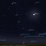 Aspect du ciel le 3 septembre 2018 à 4h00 du matin. La comète 21P/Giacobini-Zinner sera à l'emplacement du e de Capella. les autres objets du ciel profond qu'elle rencontrera au mois de septembre sont présents