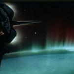 L'équipage de la navette spatiale Discovery prit cette image d'aurores australes depuis l'orbite terrestre en 1991