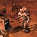 Une vue d'artiste de ce que pourrait être la collaboration entre humains et robots sur Mars.