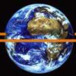 Orbite d'un satellite géostationnaire.