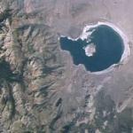 Le lac Mono vu depuis l'orbite terrestre