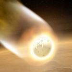 Vue d'artiste de la rentrée d'Opportunity dans l'atmosphère martienne