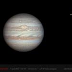 Jupiter et, en haut à droite, Ganymède photographiés par l'astronome amateur Alan Friedman de Buffalo, NY, au foyer d'un télescope de 254 mm de diamètre.