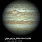 Les deux Taches Rouges de Jupiter photographiées par Christopher Go le 28 mai 2006