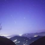 Une léonide surprise au petit matin au dessus de l'Italie en novembre 2006. C'est typiquement le genre d'ambiance qui pourrait être observé le 1er septembre 2007