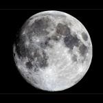 La Lune photographiée par P-M Heden de Vallentuna, en Suède
