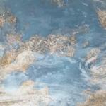 vue d'artiste d'une planète de type terrestre tournant autour d'une étoile lointaine.