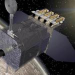 Vue d'artiste du satellite SDO qui doit s'envoler avant la fin de l'année 2009. Equipé avec le dernier cri technologique en matière de capteurs, il arrive à point nommé pour étudier ce minimum solaire tout à fait étrange.