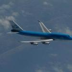 Un Boeing 747 de la KLM semblable à celui qui eut en 1989 des problèmes de propulsion suite à la traversée d'un panache de cendres jailli du Mont Redoubt