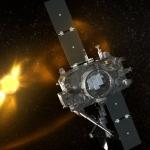 Vue d'artiste d'une des sondes STEREO en orbite autour du Soleil