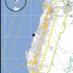 Carte du tremblement de Terre au Chili de février 2010 établie par l'USGS