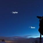 Jupiter et Vénus au crépuscule
