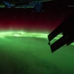 Une aurore boréale vue depuis l'ISS