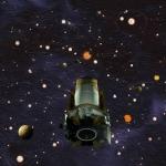Vue d'artiste du télescope spatial Kepler