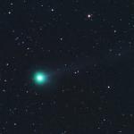 Photographie de la comète C/2018 V1 Machholz-Fujikawa-Iwamoto le 11 novembre 2018, depuis Turmkogel en Autriche