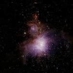 M42, la grande nébuleuse d'Orion, zone de formation stellaire dans laquelle la rotation des jeunes étoiles a été étudiée