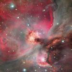 La grande nébuleuse d'Orion, M42. Sans doute la plus belle nébuleuse en émission visible depuis l'hémisphère nord
