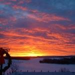 Lever de soleil du 31 décembre 2002 à Saint- Gabriel, Québec
