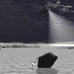 Vue d'artiste de la récupération de la capsule de Stardust