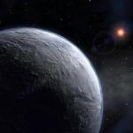 Vue d'artiste du lointain nouveau monde découvert dans la direction du centre galactique