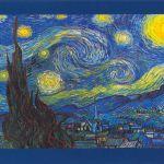 """""""La nuit étoilée à Saint-Remy"""", de Van Gogh.<br>Pour voir l'Univers tel qu'il est, il faut soit la rigueur du scientifique, soit la sensibilité de l'artiste.Tout le reste n'est qu'illusion..."""
