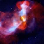 La galaxie elliptique M 87 vue en rayons X et radio