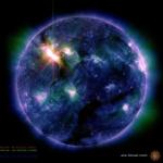 L'éruption de classe X5 de ce matin vue dans l'ultraviolet par le satellite SDO