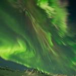Il n'aura pas fallu plus d'une seconde pour immortaliser cette aurore au-dessus de l'Islande la nuit dernière, signe de l'intensité hors du commun du spectacle.