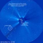 La comète Swan vue par Soho, et légendée par Guillaume Cannat, l'auteur du Guide du Ciel