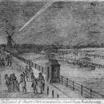 La grande comète de 1769 au-dessus d'Amsterdam