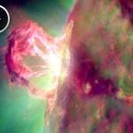 Image extraite de l'animation réalisée par le satellite SDO