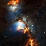 Les parages de la nébuleuse par réflexion Messier 78, juste au nord de la ceinture d'Orion, vus par APEX