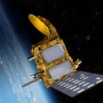 Vue d'artiste du satellite SARAL en orbite
