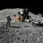 Les astronautes d'Apollo 15 sur la Lune en 1971