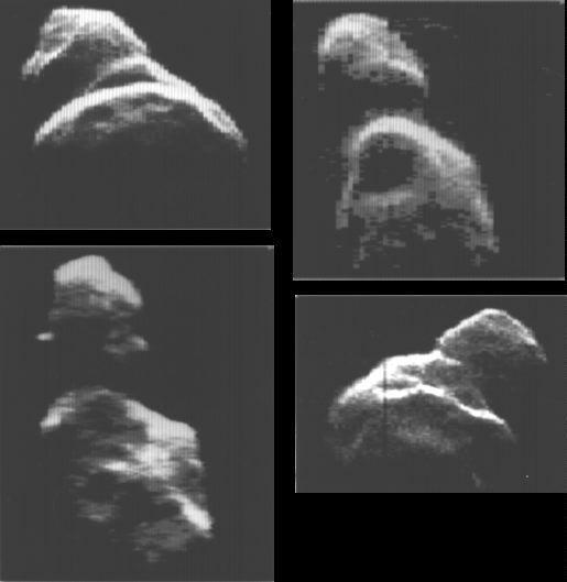 L\'astéroïde Toutatis vu au radar sous différents angles