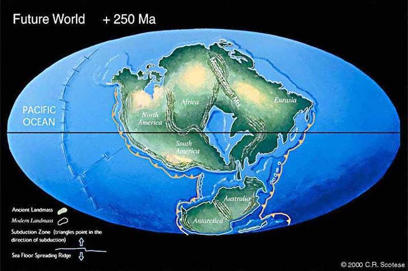 La Pangée ultime, une vision du futur de la tectonique des plaques dans 250 millions d\'années