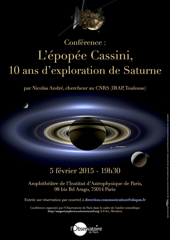 L\'épopée Cassini, 10 ans d\'exploration du système de Saturne