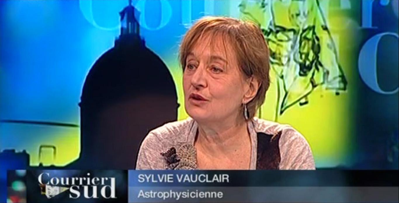 Sylvie Vauclair lors d\'une intervention sur Toulouse Télévision
