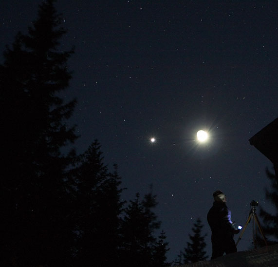 Une précédente conjonction entre la Lune et Vénus