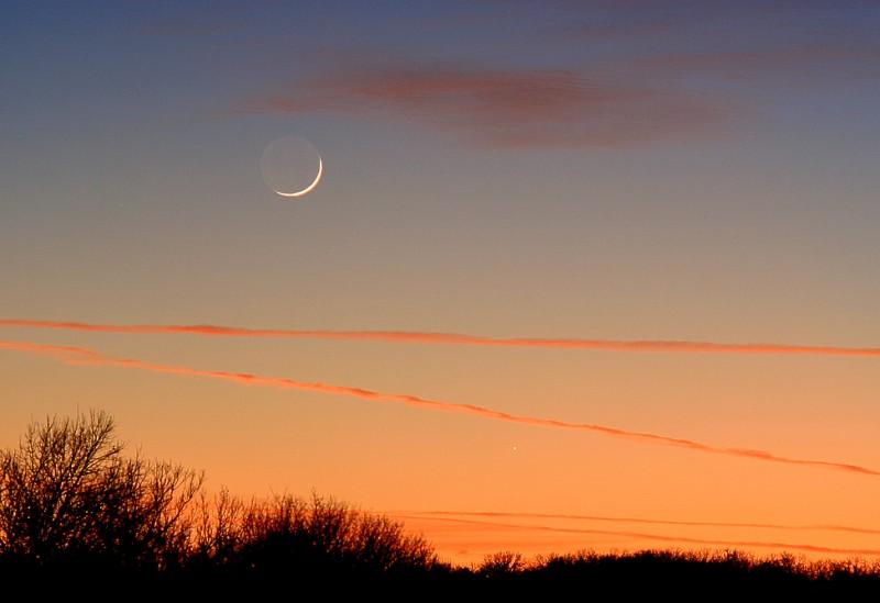 La Lune et Mercure saisies non loin l\'une de l\'autre début janvier 2008