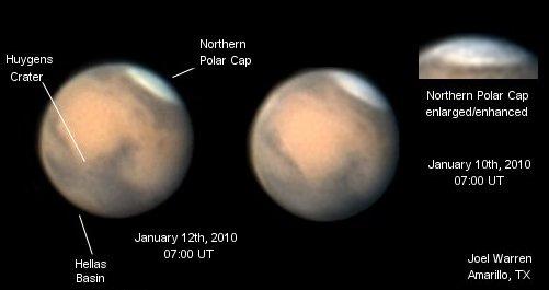 Mars vue ces jours ci dans un télescope de 280 mm de diamètre