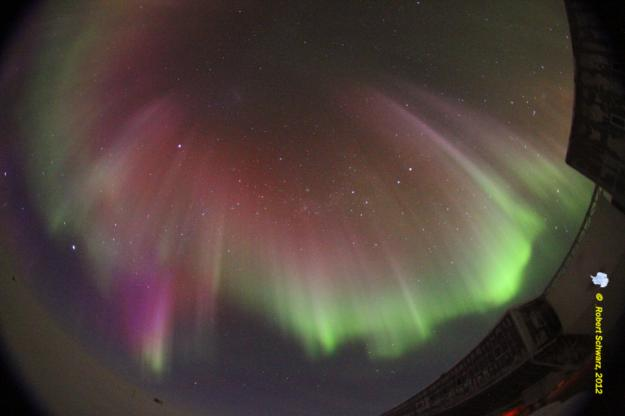 Aurores sur le pôle sud